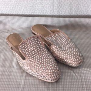 Shoes - Rhinestone Blingy Slip On Flats size 7